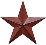 Burgundy Barn Star, 3.5""