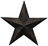 Antique Black Barn Star,  5.5""