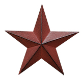 Burgundy Barn Star - 5-1/2""