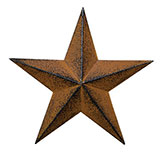 Rust & Black Barn Star - 8""