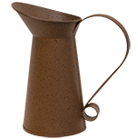 Rusty/Black Small Pitcher
