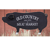 Old Country Meat Market Wooden Plaque