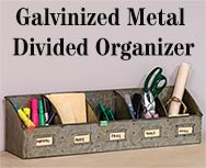 Galvanized Divided Organizer