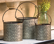 3/Set, Olive Buckets
