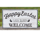 Every Bunny Welcome Easter Wood Sign