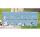 Bless Our Nest Spring Floral Sign