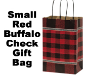 Red Buffalo Check Gift Bag, Small