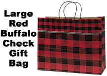 Red Buffalo Check Gift Bag, Large