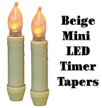 "2/pk, 4"" Beige Timer Tapers"
