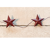 Burgundy Star Garland 60""