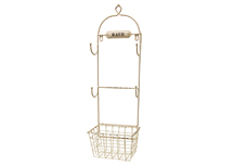 Bath Towel Rack & Basket