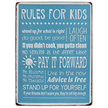 Rules For Kids Plaque
