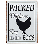 Wicked Chickens Plaque