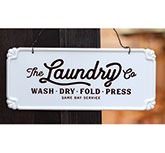 The Laundry Co. Vintage Metal Hanging Sign