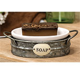 Galvanized Wash Bin Soap Dish