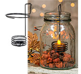 Mason Jar LED Tealight Holder