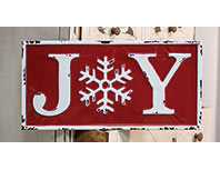 Joy Enamel Wall Sign