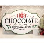 Hot Chocolate Iron Wall Sign