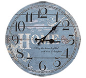 Blue Round Home Clock