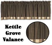 Kettle Grove Block Border Valance