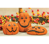 Resin Jack-O-Lanterns, 3/Set