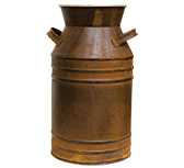 Milk Can - Rusty - 18""