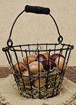 Black Wire Egg Basket