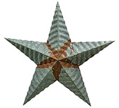 Galvanized Punched Barn Star - 12\