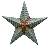 Galvanized Punched Barn Star - 18\