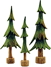 3/Set, Resin Pine Trees
