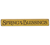 Spring Blessing Engraved Sign