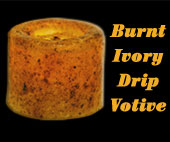 LED Votive - Burnt Ivory