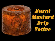 LED Votive - Burnt Mustard