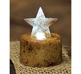 Burnt Ivory Star Timer Tealight