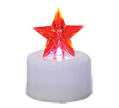 Red Star Timer Tealight