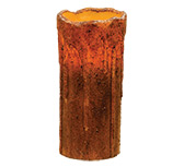 Burnt Mustard Drip Timer Pillar, 7""