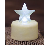 Ivory Star Timer Tealight