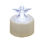 Clear Star Timer Tealight