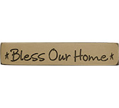 Bless Our Home Engraved Block