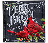 Merry and Bright  Cardinal Sign