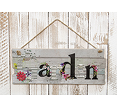Flower Garden Sign w/ Rope