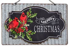 Christmas Cardinal Corrugated Sign