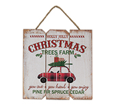 Holly Jolly Tree Farm Hanger
