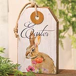 Easter Wood Tag