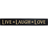 Live Laugh Love Engraved Sign - Black