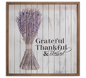 Grateful Framed Shiplap Sign - 15\