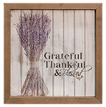 Grateful Framed Shiplap Sign - 10\