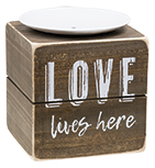 Love Lives Here Candle Block
