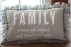 Family Where Life Begins Pillow
