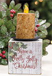 Holly Jolly Candle Block